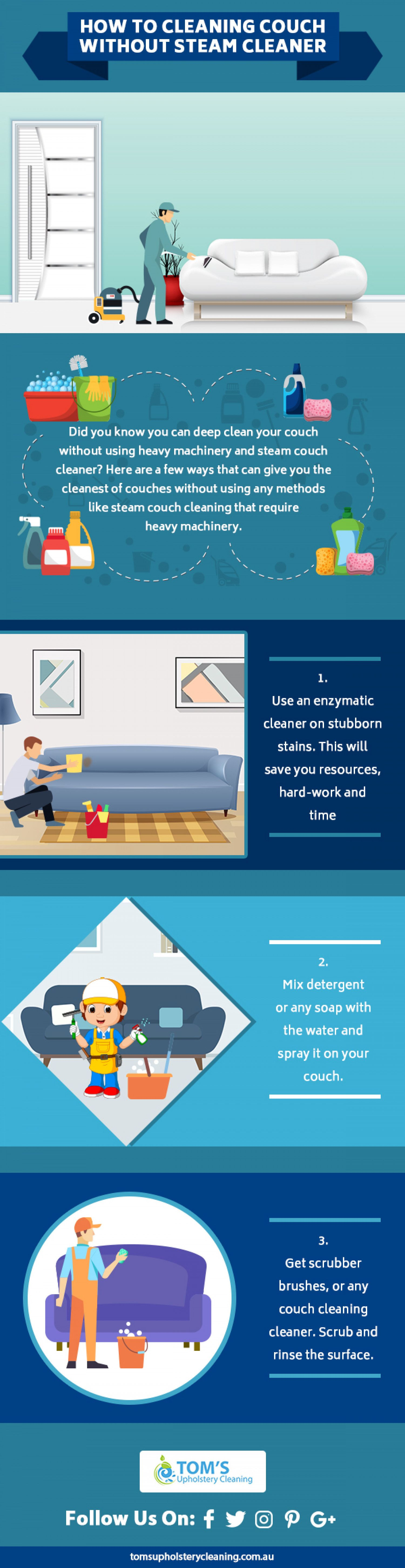 Check It Out Howto Cleaning Couch Without Steamcleaner Clean Couch Steam Cleaners Cleaning