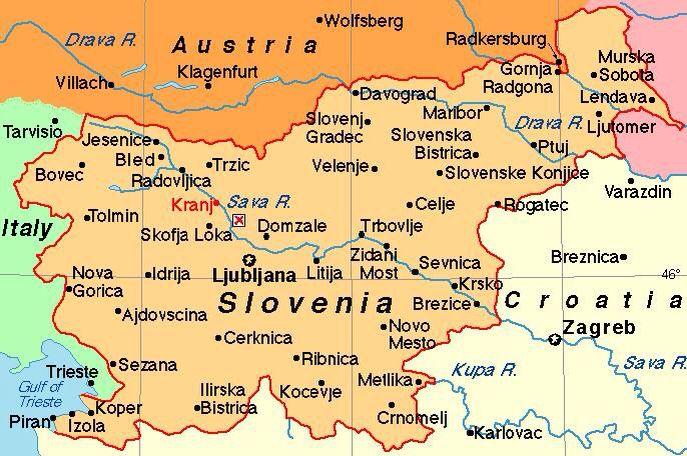 Map Of Slovenialook For Kocevje Gottschee Austria - Klagenfurt austria map