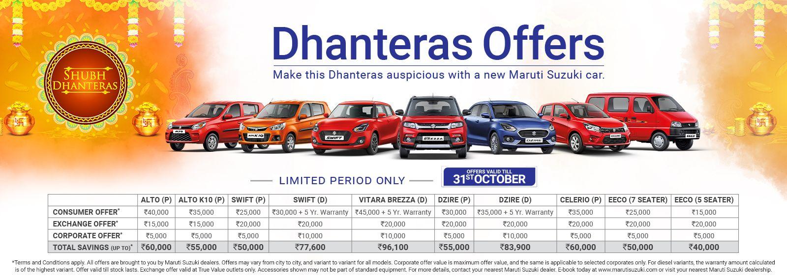 Celebrate Diwali With Your Brand New Maruti Suzuki Arena Car Get