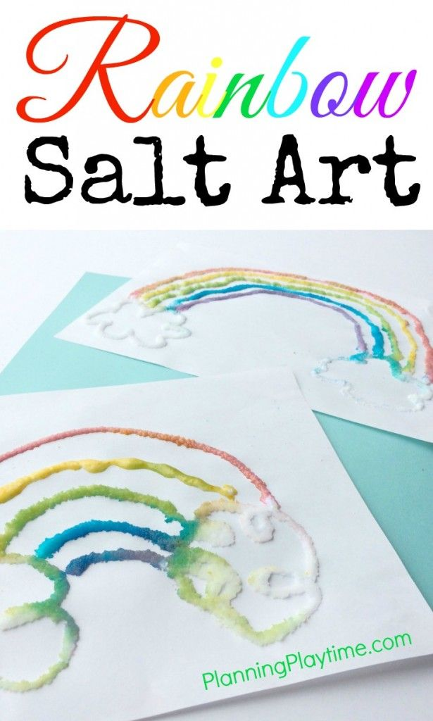 St. Patrick's Day Salt Art - Planning Playtime