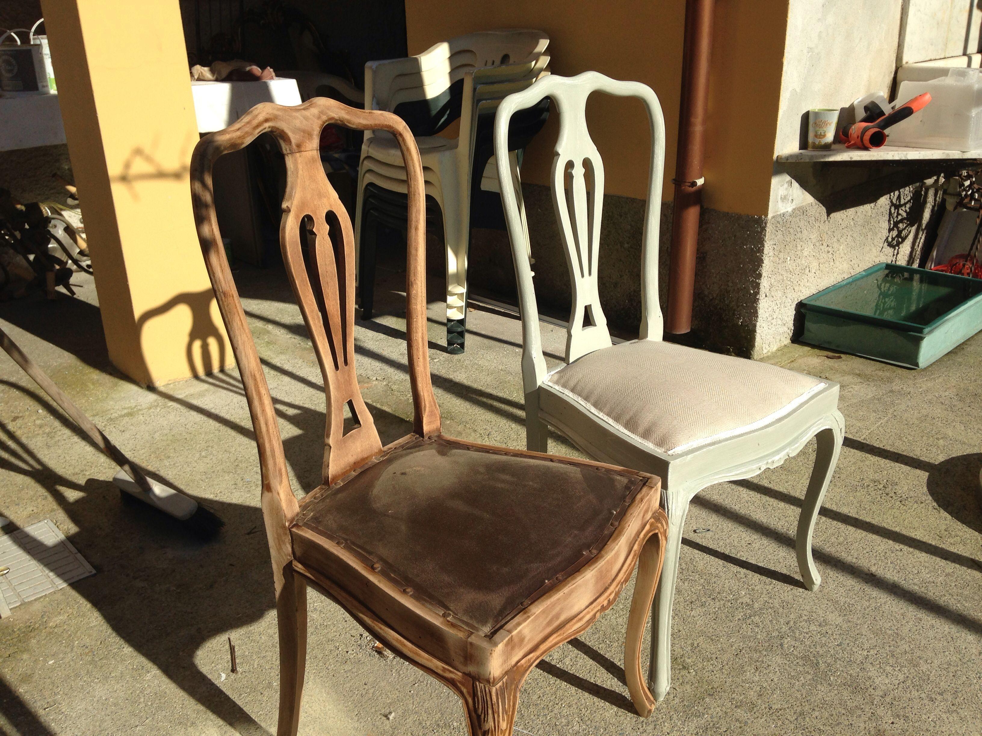Imbottitura Sedie ~ Imbottitura e rinfodero sedie shabby simplyshabby di emanuela