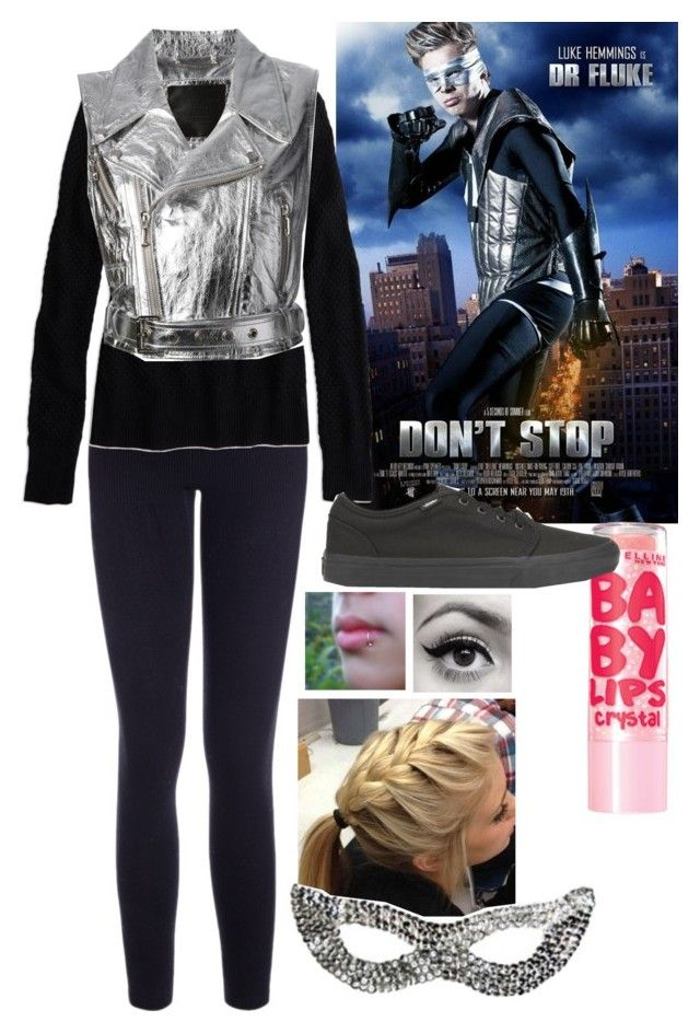 """""""my dr. fluke costume"""" by missjohanna02 ❤ liked on Polyvore featuring American Eagle Outfitters, Maybelline, Philipp Plein, Vans, Color Me, women's clothing, women's fashion, women, female and woman"""