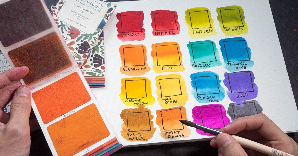 Viviva Colorsheets Vibrant Watercolors To Paint Anytime Anywhere