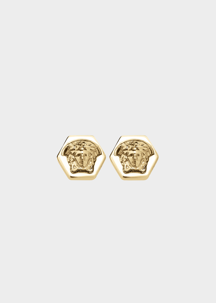 e396c628cd Versace Medusa Hexagon stud earrings for Men | UK Online Store ...