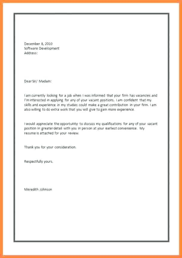 Cover Letter For Applying Job Pdf 3 Example Of Job Application Letter Chic Samp Application Letters Application Letter For Employment Application Letter Sample