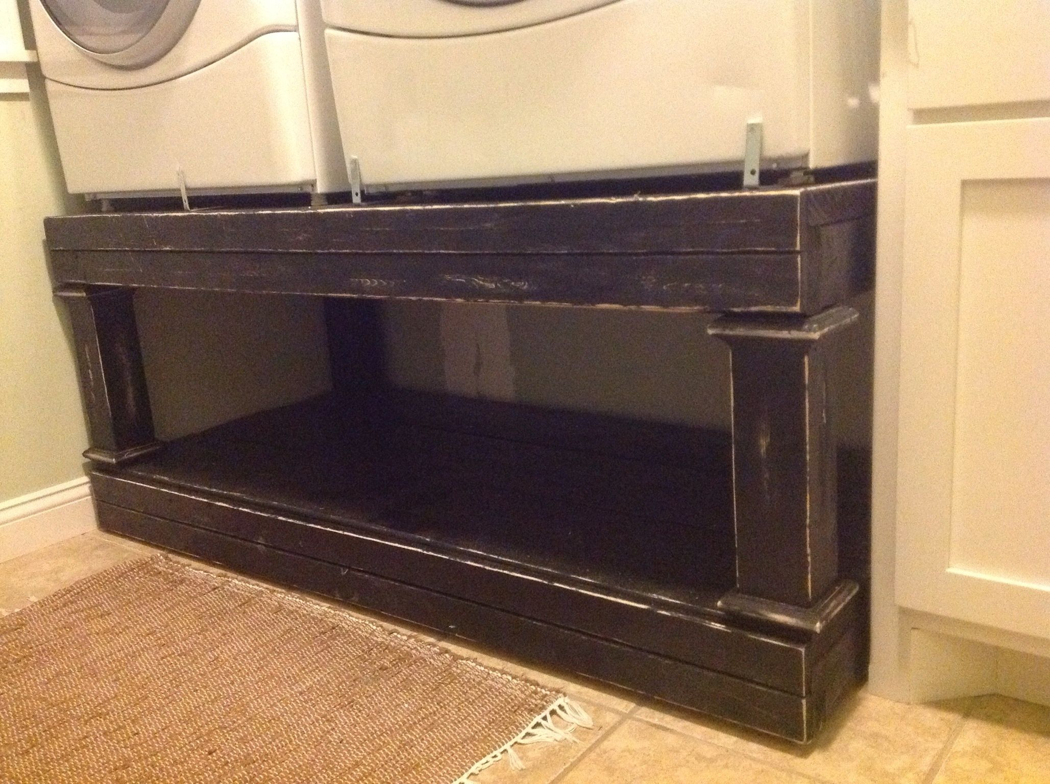 Work surface for washer and dryer - Homemade Washer And Dryer Pedestal Washer Dryer Pedestal Diy