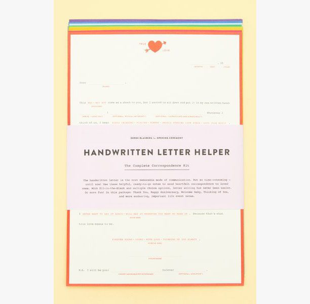 Stocking Stuffer Idea: Derek Blasberg's Handwritten Letter Helpers, $24 Opening Ceremony