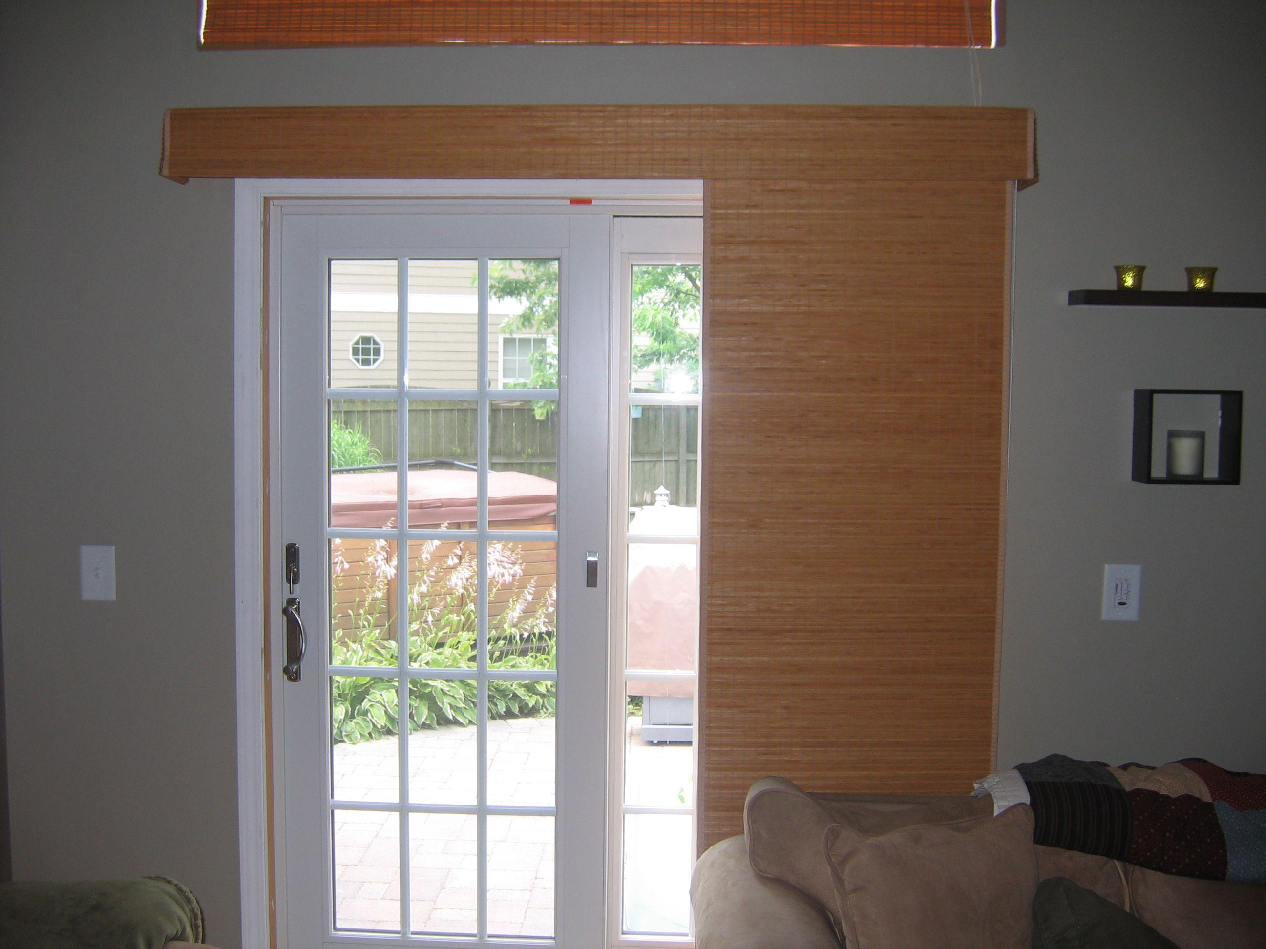 Panel Track In Open Position Sliding Glass Door Window Treatments