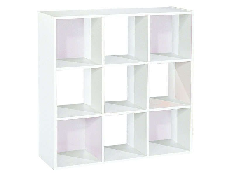 Bibliothèque 9 cases MODULO 2 coloris blanc - Vente de Armoire et