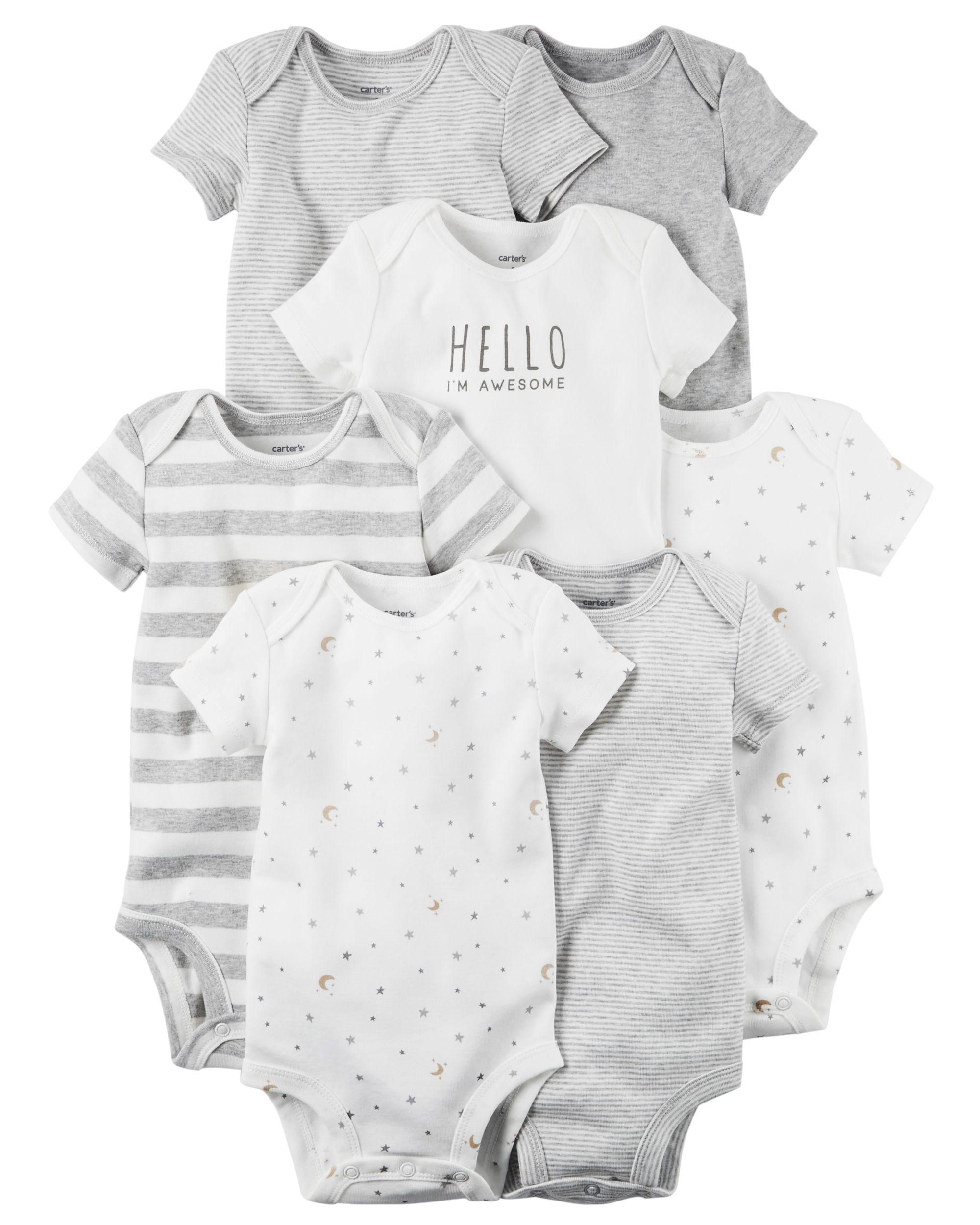1b516eb04 7-Pack Short-Sleeve Original Bodysuits   Maternity and Baby Fashion ...
