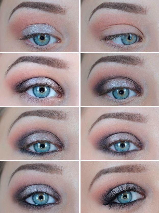 Красивый дневной макияж глаз поэтапно