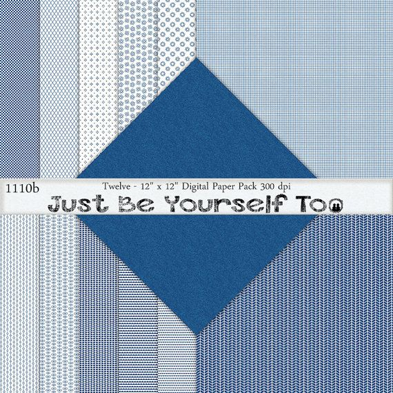 Instant Download 12 x 12 Inch Distressed Blue by JustBYourself2, $3.00 (1110b)