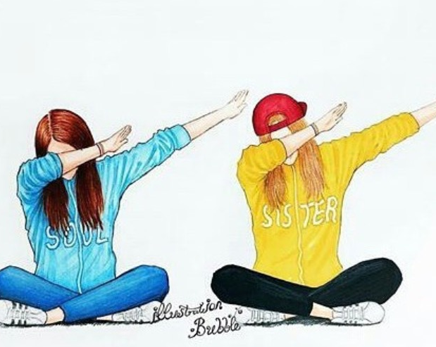 Look What I Found Awesome My Background 4 My Computer Bff Drawings Drawings Of Friends Best Friend Drawings
