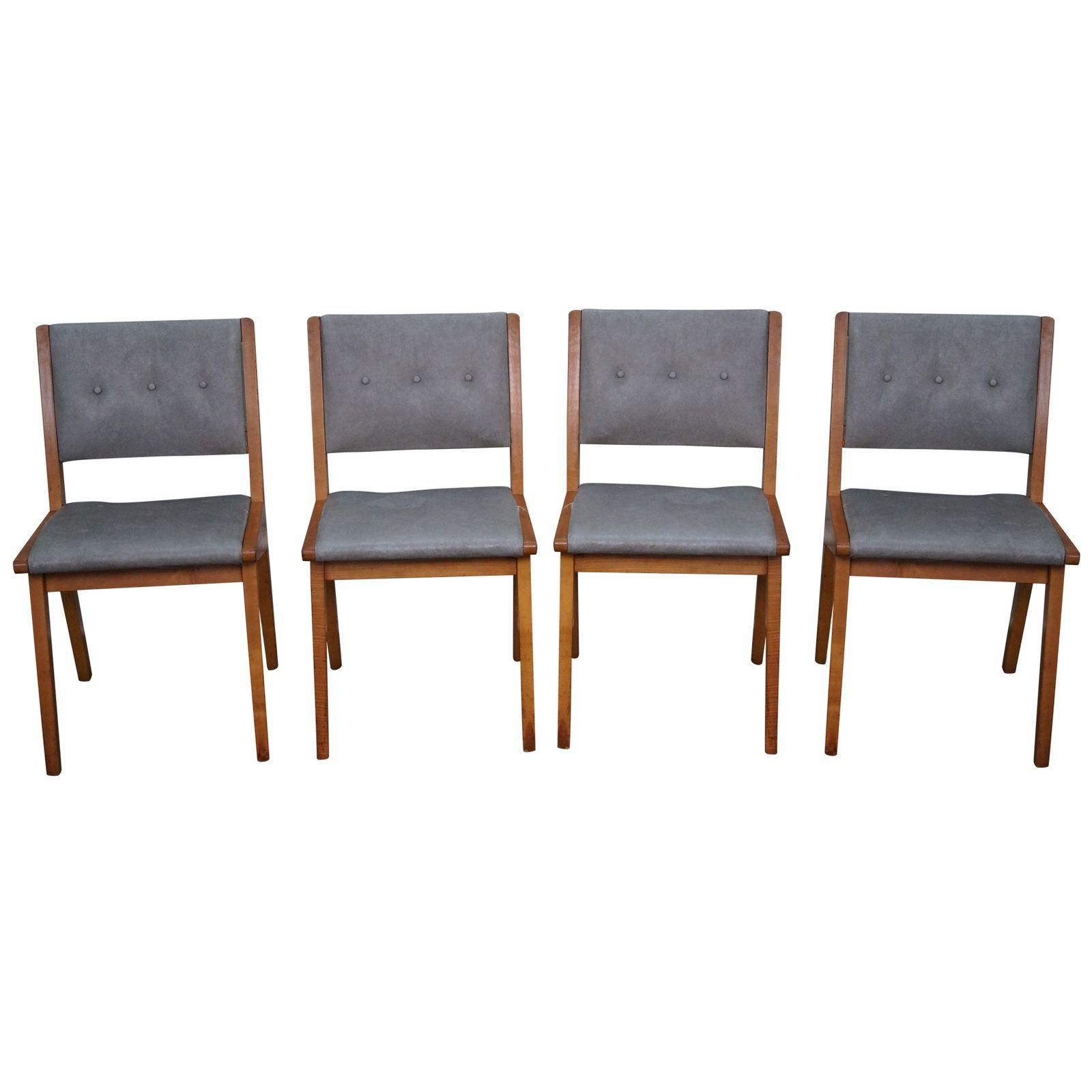 Image Of Jens Risom Mid Century Dining Chairs  Set Of