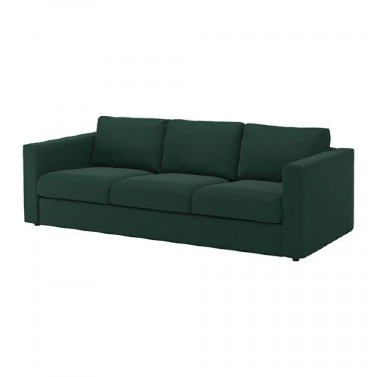 Vimle Sofa 3 Osobowa Gunnared Ciemnozielony 241x98 Ikea Vimle Sofa Modular Sectional Sofa Sofa