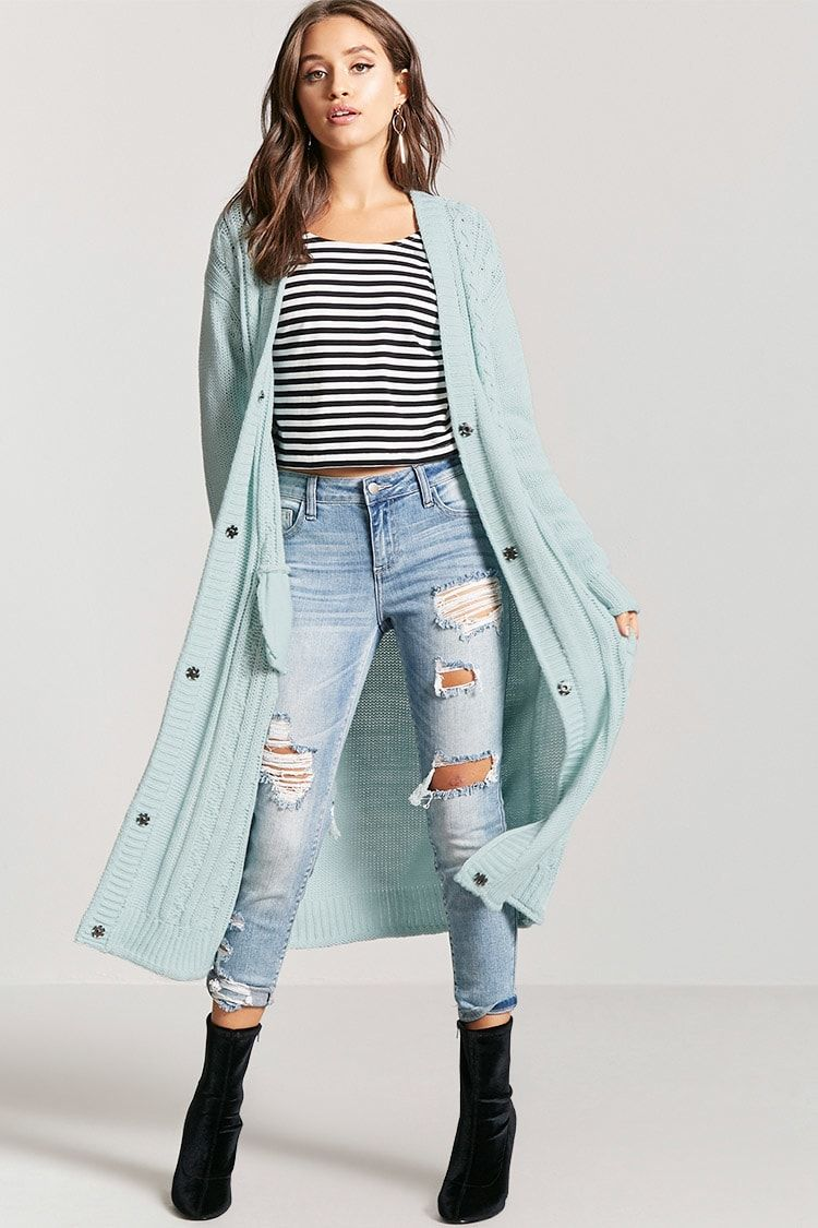 Product Name:Cable Knit Duster Cardigan, Category:sweater, Price ...