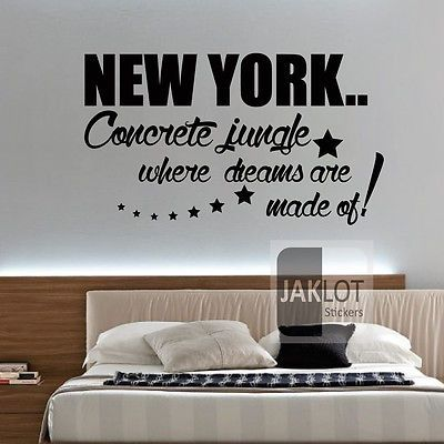 New york #dreams made of- vinyl wall art sticker, #transfer, #decal,  View more on the LINK: 	http://www.zeppy.io/product/gb/2/291172464385/