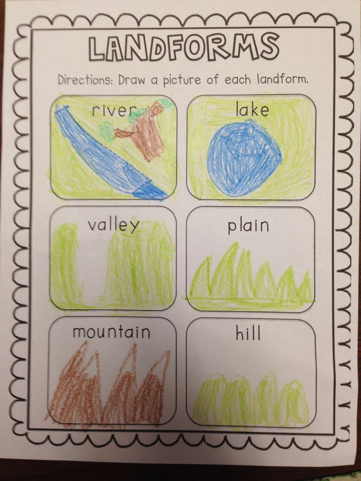 Chalk Talk A Kindergarten Blog Landforms This Is A