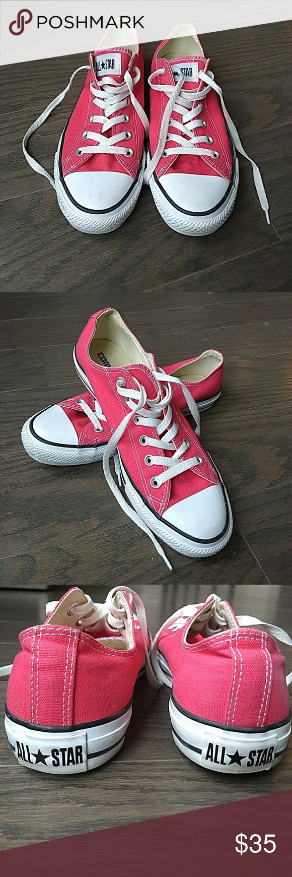 ca6e00005bb8 Hot Pink Converse All Star Size 10 These are in great used condition. Women s  size 10 or Men s size 8 Converse Shoes