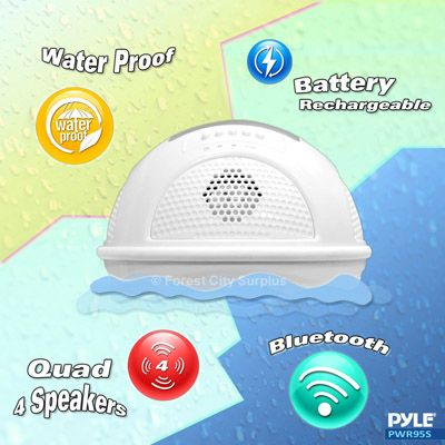 Pyle 174 Pwr95swt Aqua Sunblast Floating Bluetooth Waterproof