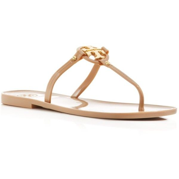 e5eed252bd91b3 ... sweden tory burch flat thong sandals mini miller jelly 95 liked on  polyvore 7ad16 abcac