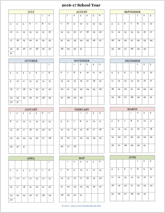 Free Printable Calendars For Both 2016 And 2017 Ay Advanced Planning