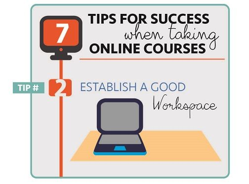 Online Learning Tip 2 Establish A Good Workspace Work Space Essay About Experience