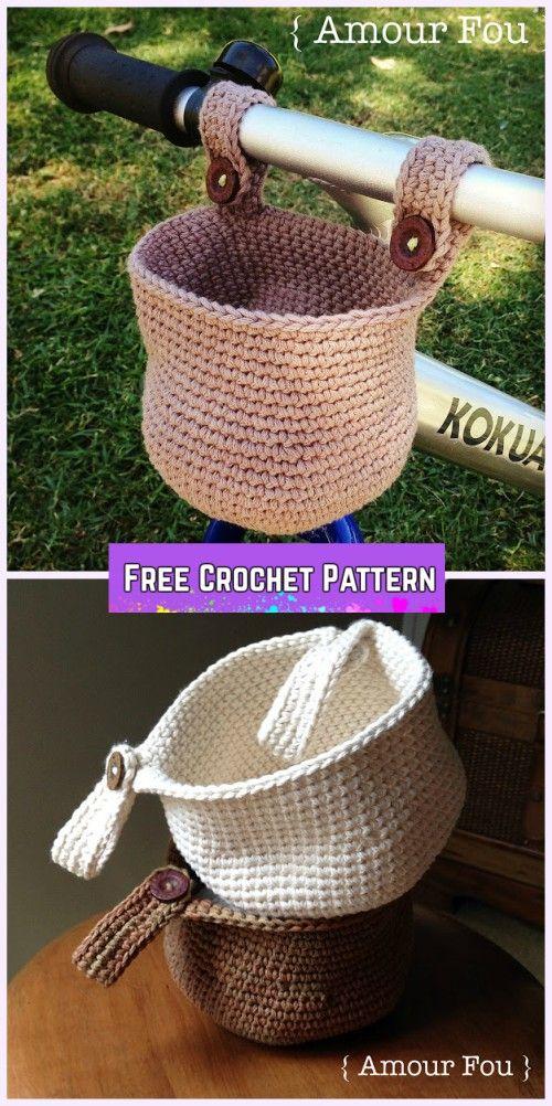 Crochet Bike Hanging Basket Free Pattern Crochet Pinterest