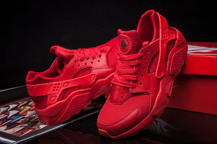 #nice #sneakers newest Nike Air Huarache Hyper Punch ALL Red Hot Red shoes  2015