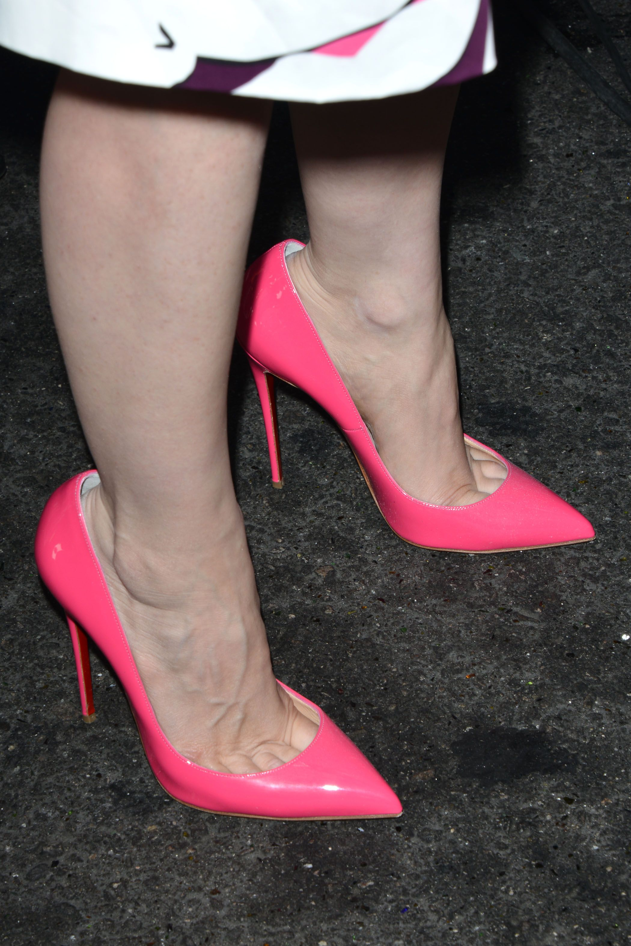 Jessica Chastain S Hot Pink Christian Louboutin So Kate