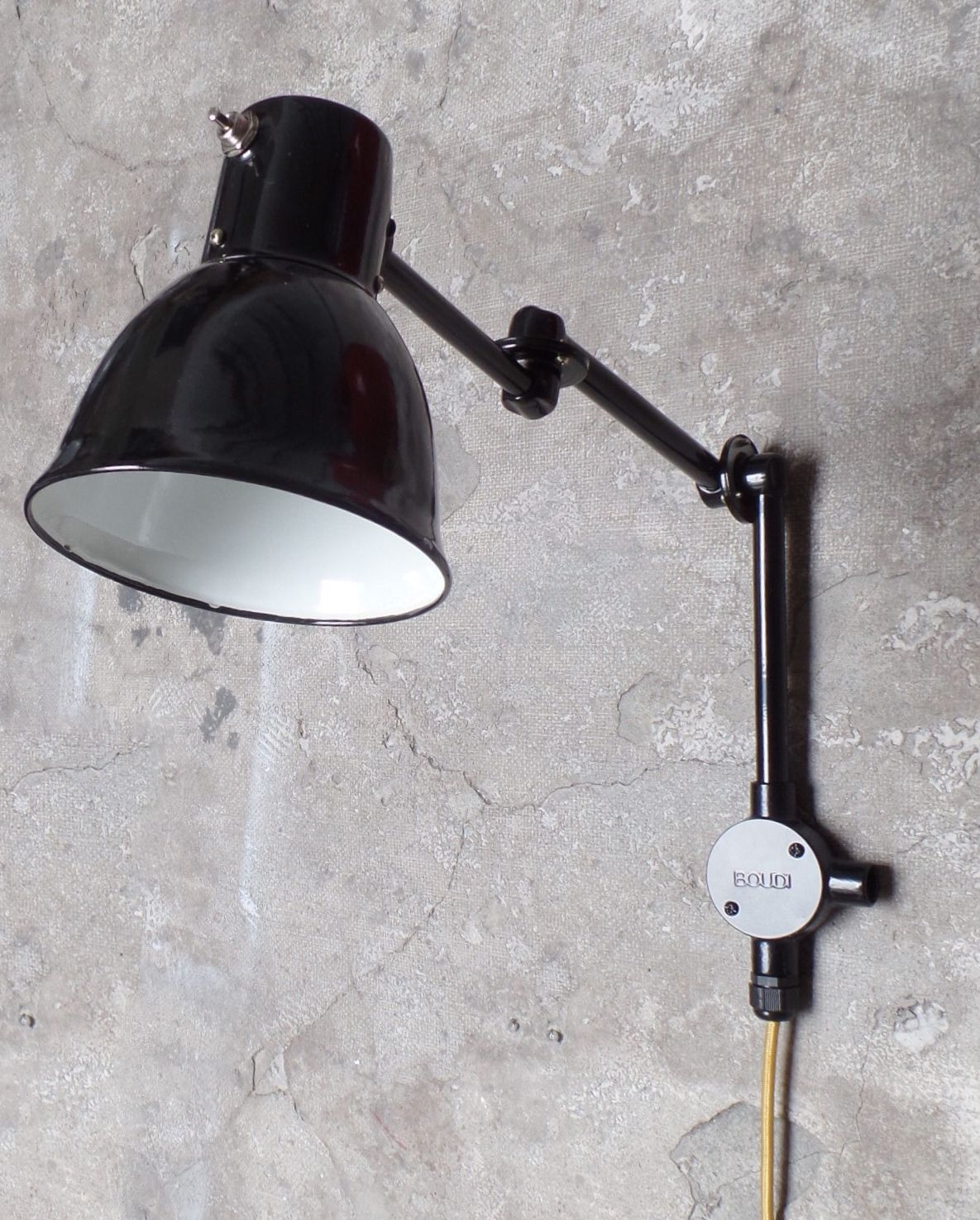Boudi Mid Century Industrial Style Wall Sconce Lamp In Black Www Boudi Co Nz Interer Dom