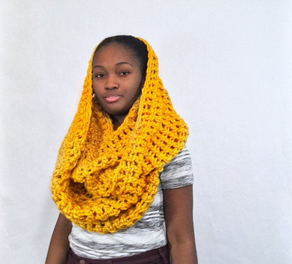 c609e96b715 The Extra Toasty Cowl | Products | Oversized scarf, Hooded scarf ...
