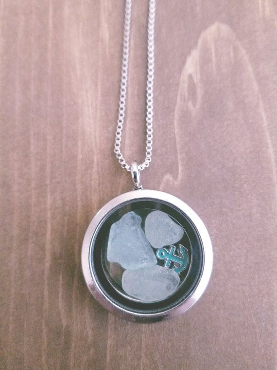 Floating Stainless Steel Locket with Pastel by WildBlueCreations