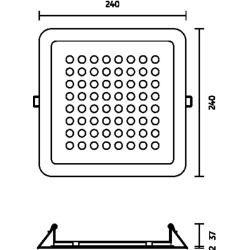 Photo of Nimbus Modul Q 64 In Deckenleuchte silber-eloxalfarben extra-warmweiß (2700° K)