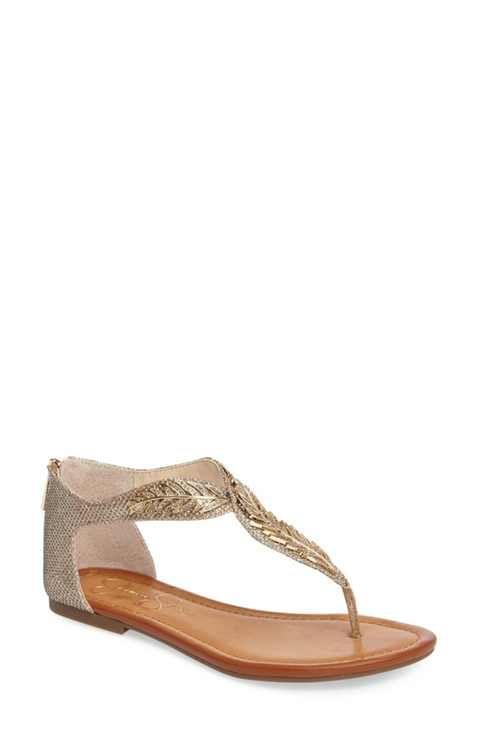 9506925c4f0 Jessica Simpson Kalie Embellished Feather Sandal (Women)