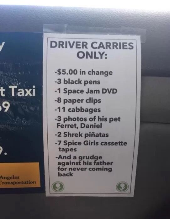 Best Taxi Driver Ever Lolsnaps Funny Facebook Status Funny Quotes Just For Laughs