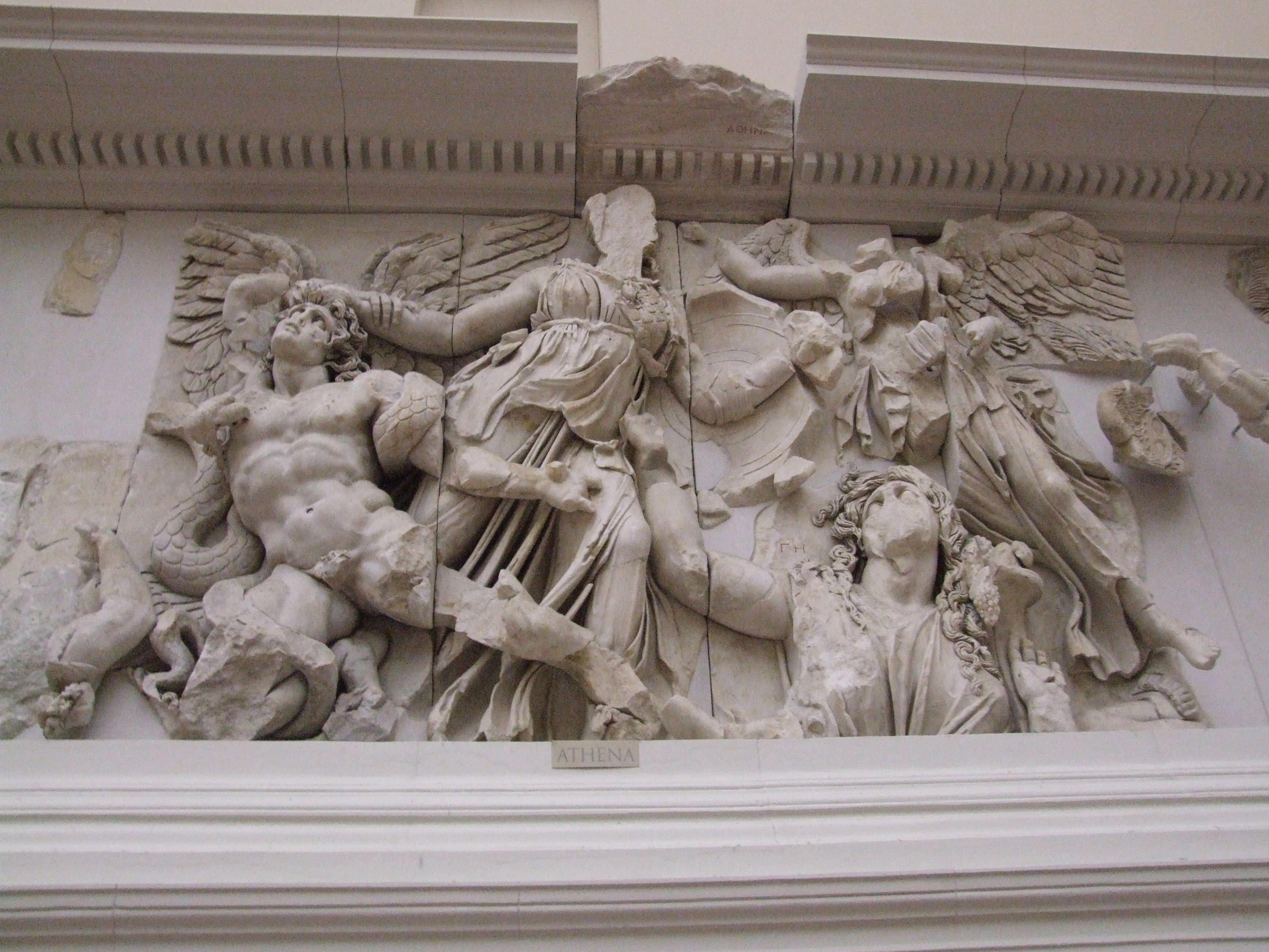 Athena Contra Alkyoneus Nike Pergamon Pergamon Museum Pergamon Museum Berlin