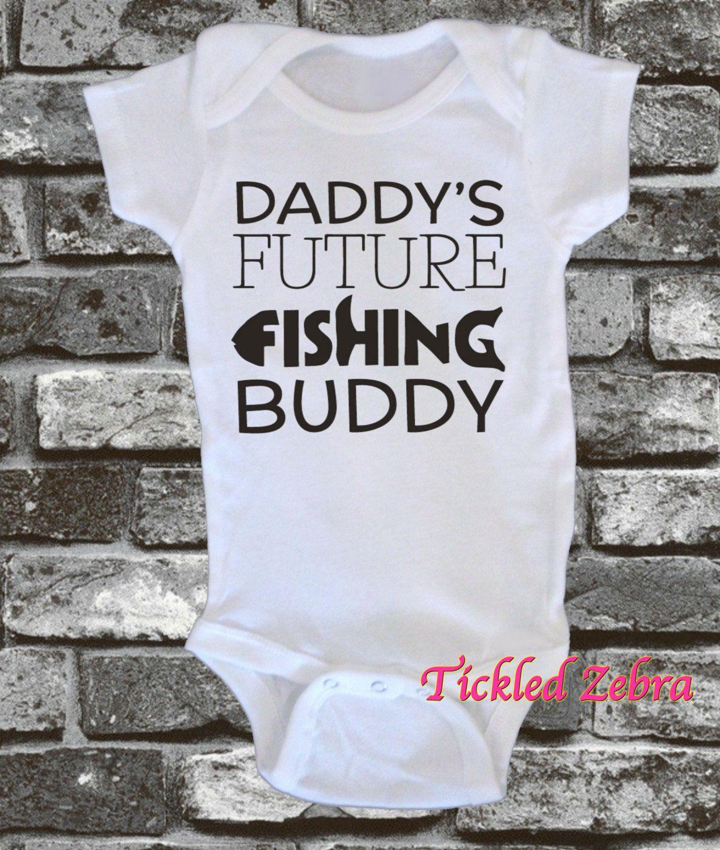 a68d8237ac9c Daddy s Future Fishing Buddy Baby Bodysuit