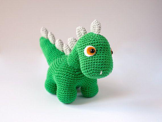 Tutorial Amigurumi Dinosaurio : Dino, el dinosaurio amigurumi Lanukas Pinterest ...