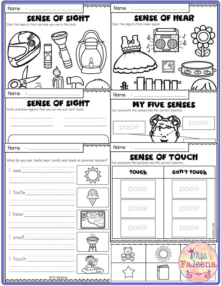 Five Senses Activities Senses activities, Worksheets for