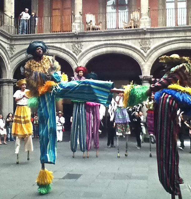 dancing on stilts in Mexico City.