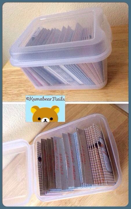 Nail stamping plate storage system for my rectangular & larger round ...