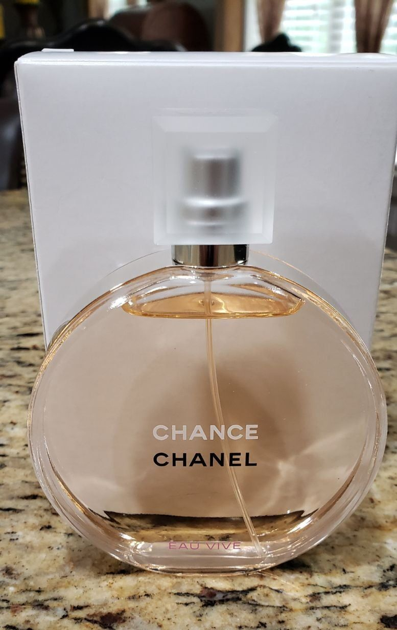 Chanel Chance Eau Vive 3 4 Oz Edt Spray New And Unused Tester In Plain White Tester Box There Is Writing On Perfume Bottles This Or That Questions Perfume