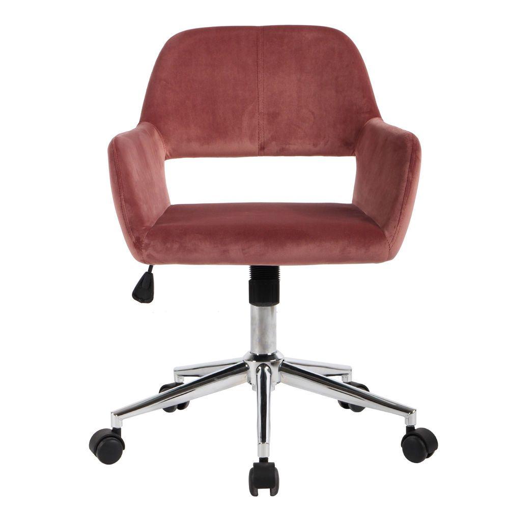 Fabric velvet modern adjustable desk chair home office