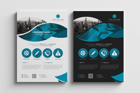Corporate Flyer Template 04 By Brochuresfactory On Creativemarket