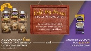FREE Oregon Cafe Espresso Latte Concentrate – First 4,000