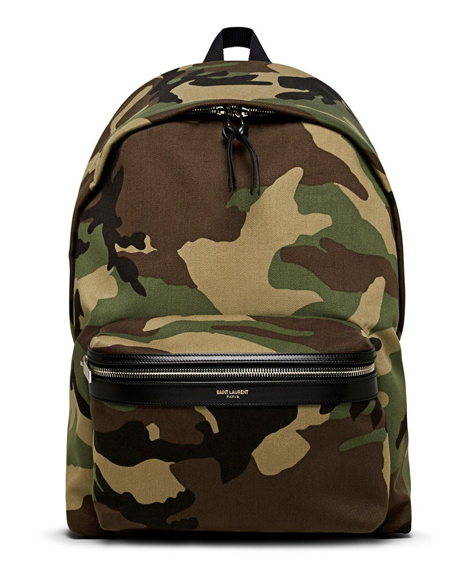 dfa8d0db53d Saint Laurent Camouflage Print Hunter Backpack - Sneakerboy ...