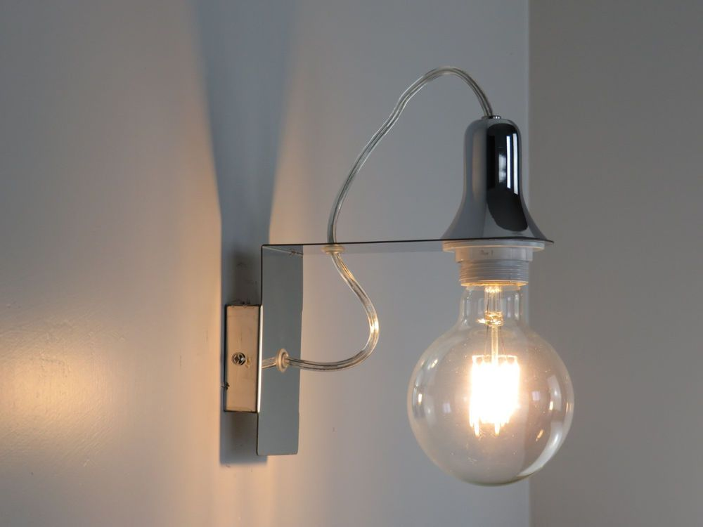 Lampada da parete cromo design moderno per cucina camera da letto