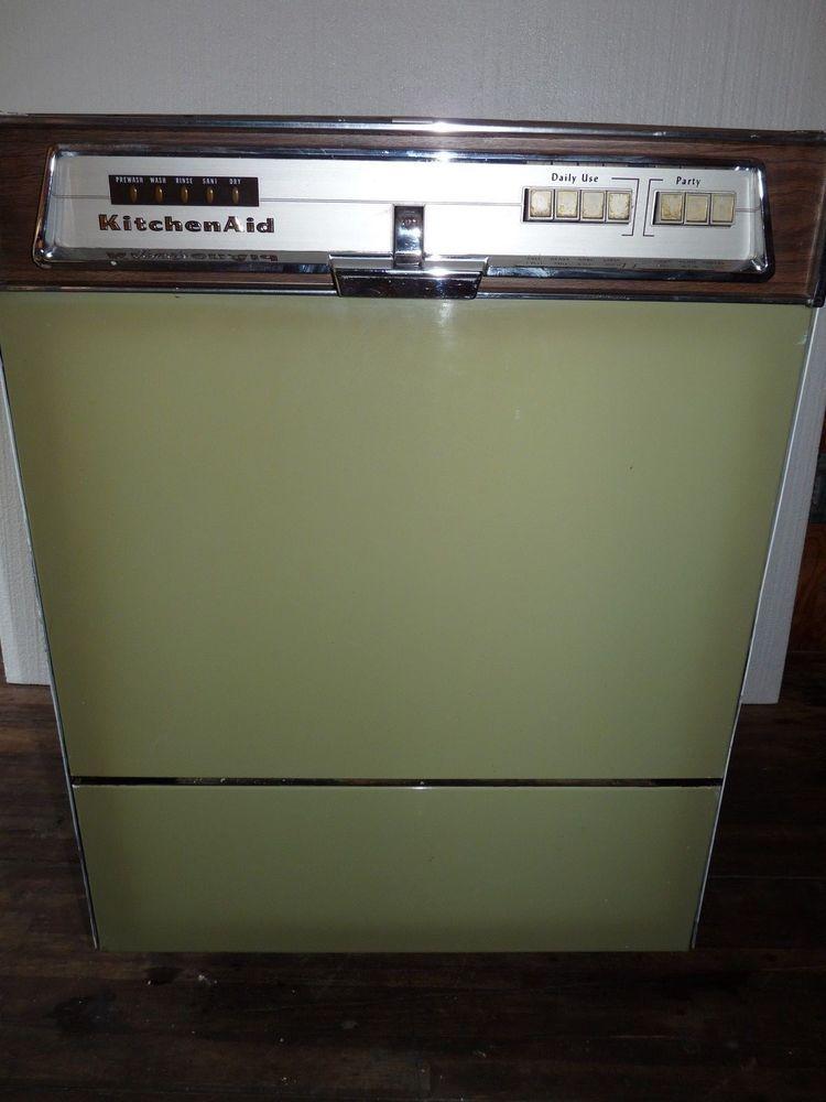 Vintage Hobart Made Kitchen Aid Home Dishwasher Superba Kds 16 Avocado Green Kitchen Aid Avocado Green Home