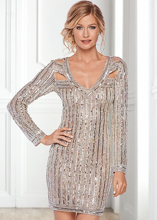 Dare to dazzle. Venus all over beaded party dress. | Party Perfect ...